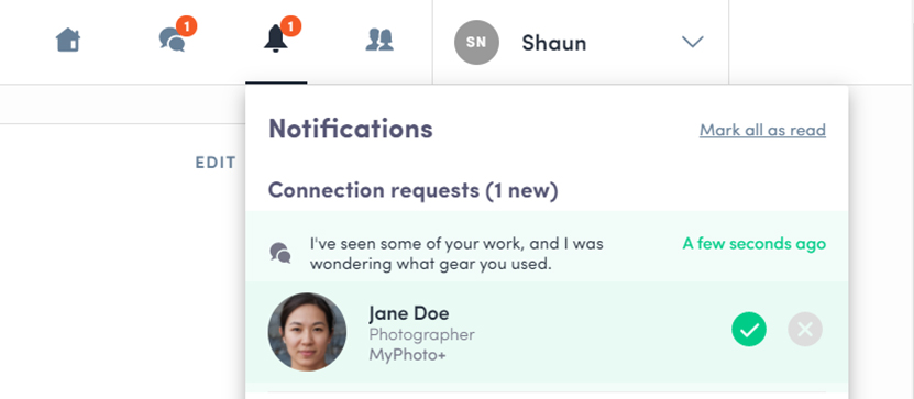 Connection Notification